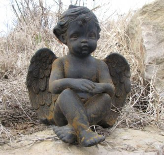Black Rust Cherub (Large)