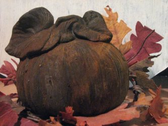Rusted Pumpkin with Leaves