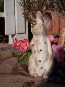Rabbit with Flower Luminary