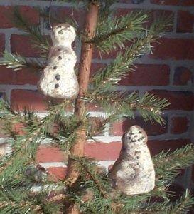 Dirty Snowman Ornaments