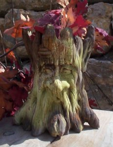 Tree Trunk Man Planter